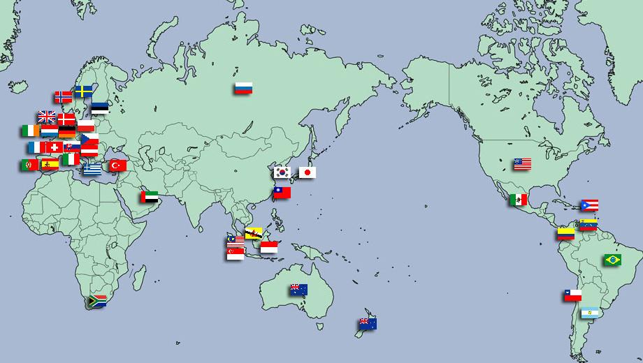 海外代理店マップ